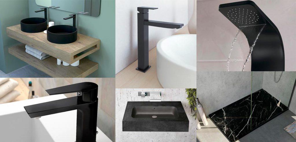 negro tendencia en baños