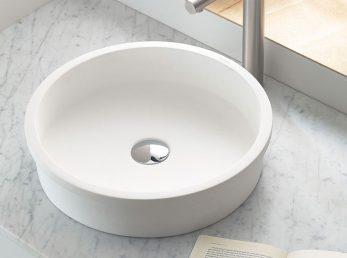 lavabo belted de solid surface de bathco