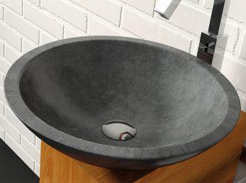 lavabo sobre encimera catania negro the bath collection